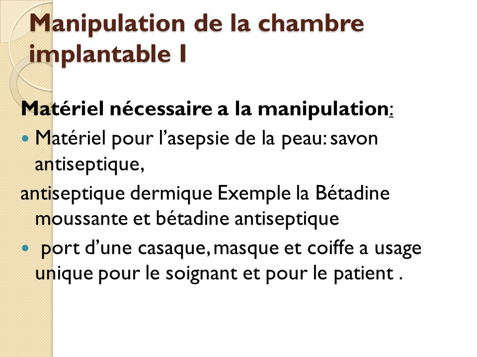 La chambre implantable en h matologie ppt t l charger - Chambre implantable percutanee ...