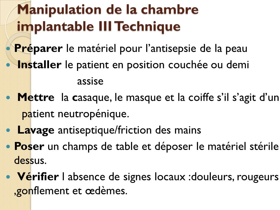 Pose de chambre implantable awesome documents similaires for Chambre implantable