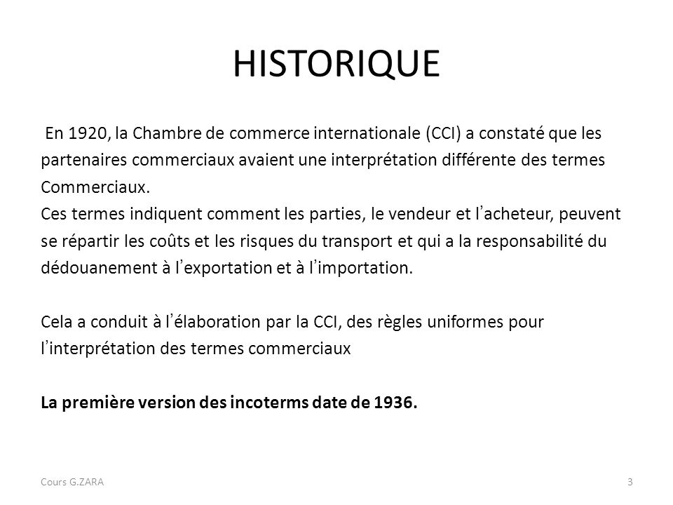 les incoterms cours g zara ppt video online t l charger