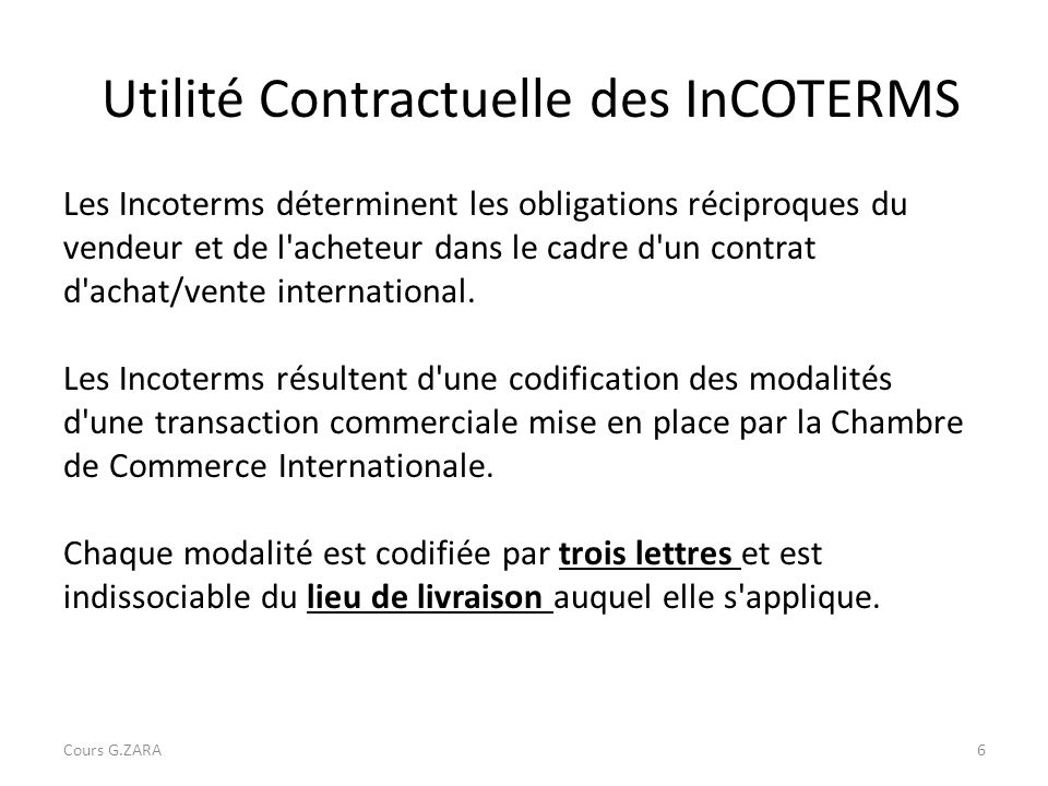 Les incoterms cours g zara ppt video online t l charger for Chambre de commerce internationale emploi