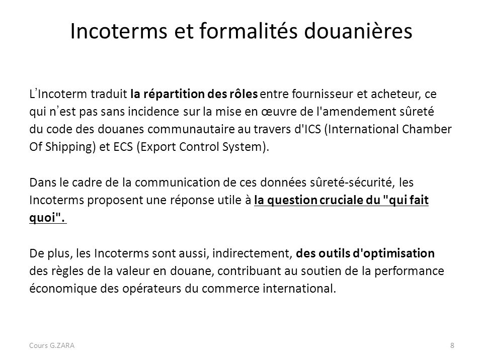 les incoterms commerce international pdf