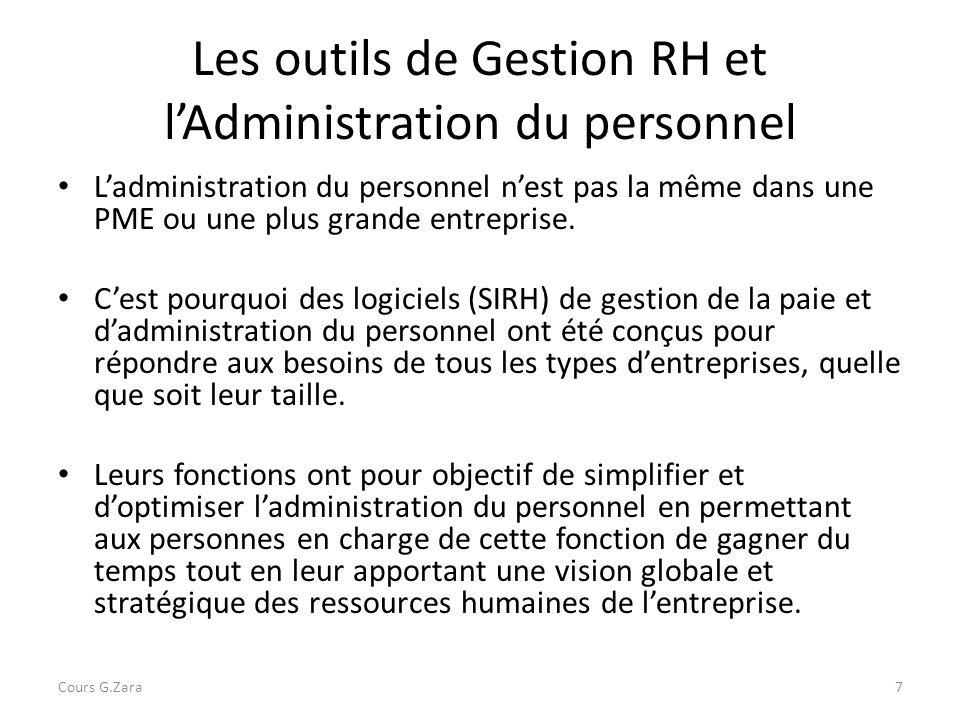 Les outils de Gestion RH et l'Administration du personnel