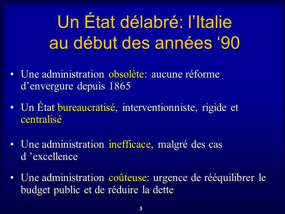 Un État délabré: l'Italie au début des années '90