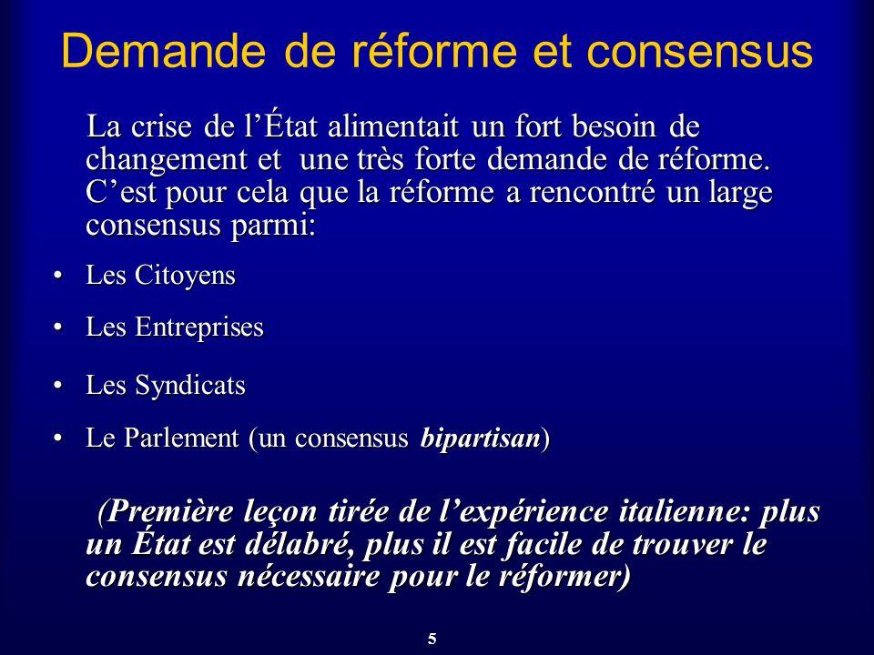 Demande de réforme et consensus