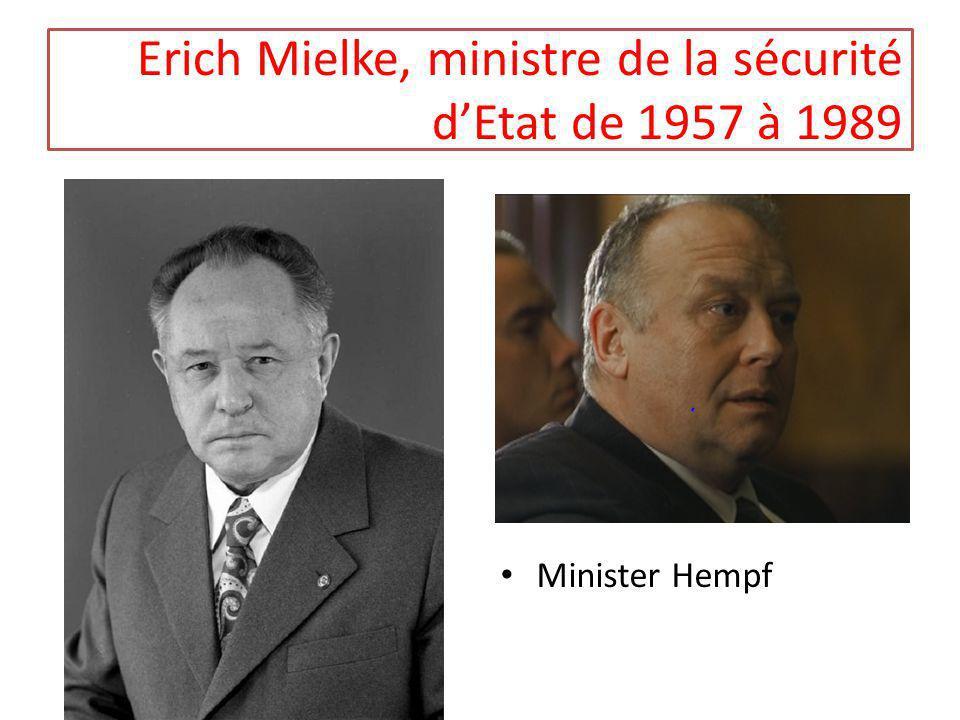 Erich Mielke, ministre de la sécurité d'Etat de 1957 à 1989