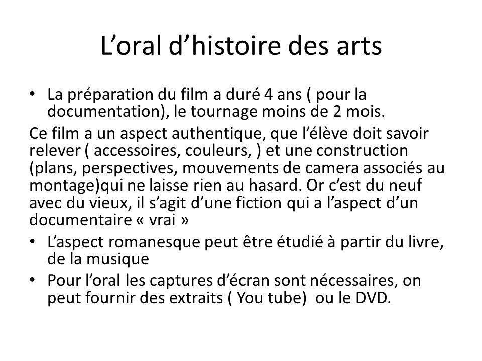 L'oral d'histoire des arts
