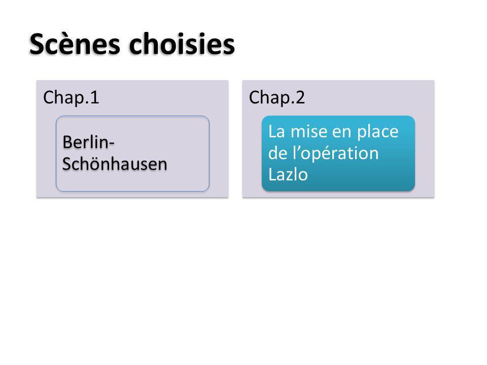 Scènes choisies Chap.1 Berlin-Schönhausen Chap.2