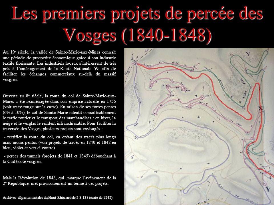 Les premiers projets de percée des Vosges (1840-1848)