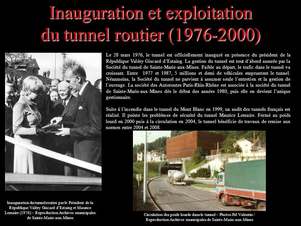 Inauguration et exploitation du tunnel routier (1976-2000)