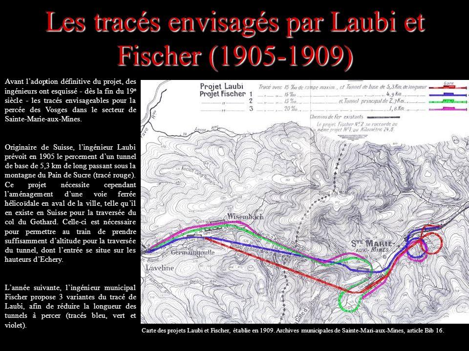 Les tracés envisagés par Laubi et Fischer (1905-1909)