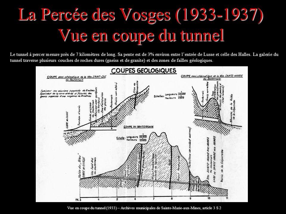 La Percée des Vosges (1933-1937) Vue en coupe du tunnel