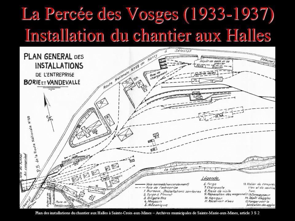La Percée des Vosges (1933-1937) Installation du chantier aux Halles