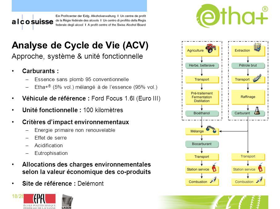 Analyse de Cycle de Vie (ACV) Approche, système & unité fonctionnelle