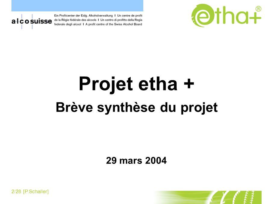 Brève synthèse du projet