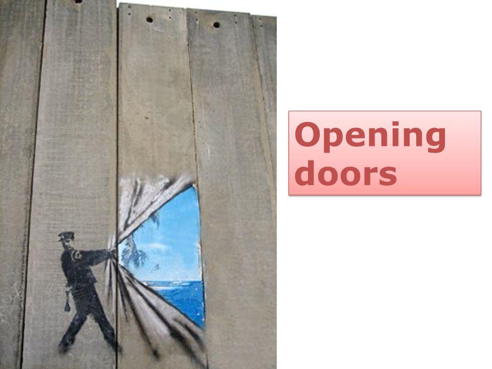 Opening doors Image by Banksy