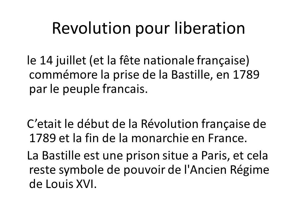 Revolution pour liberation