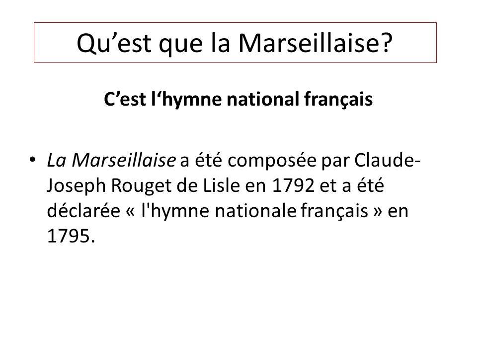 C'est l'hymne national français
