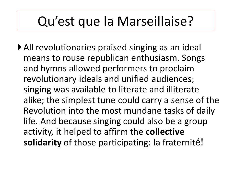 Qu'est que la Marseillaise