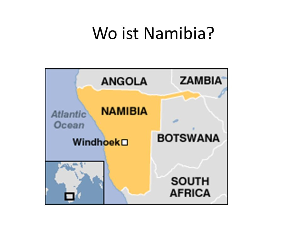 Wo ist Namibia