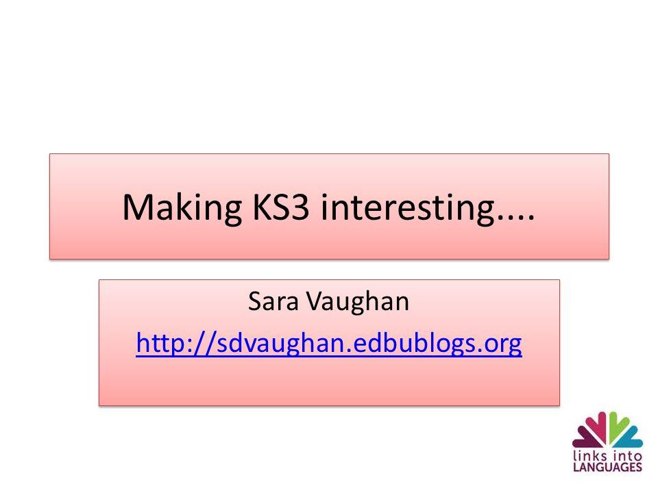 Sara Vaughan http://sdvaughan.edbublogs.org