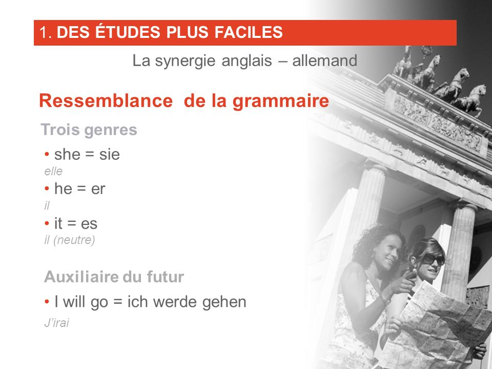 La synergie anglais – allemand