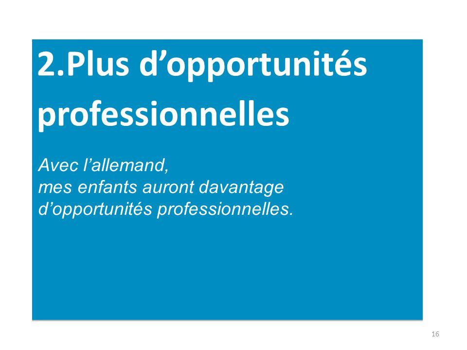 2.Plus d'opportunités professionnelles
