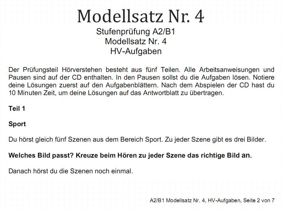 Modellsatz Nr. 4