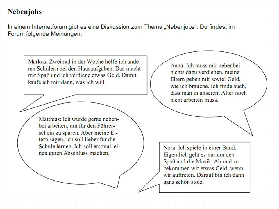 Support : Diskussion zum Thema