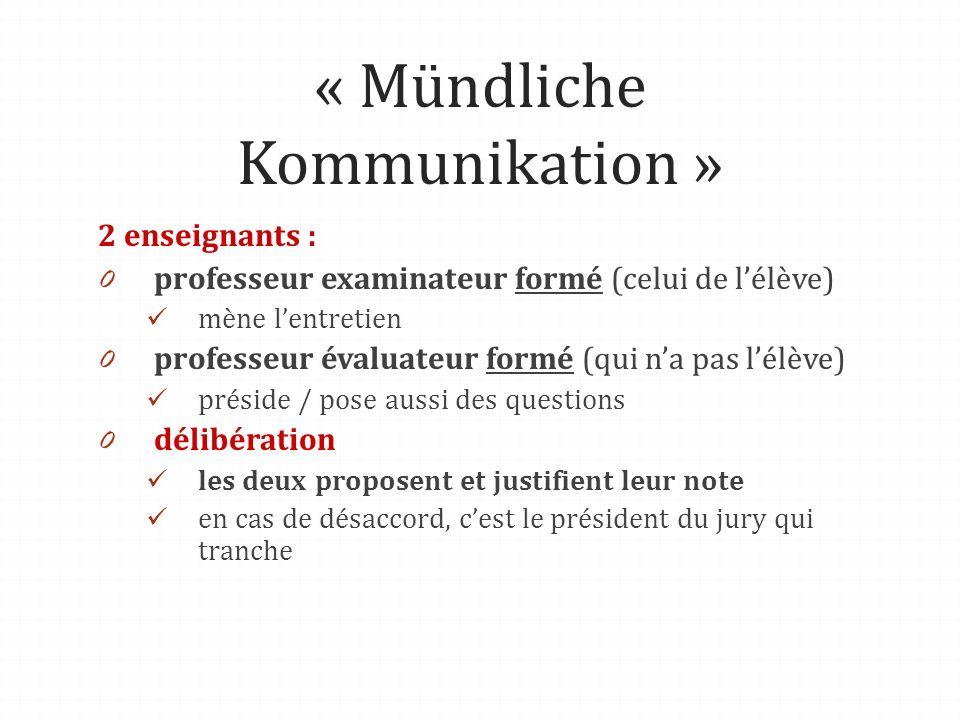 « Mündliche Kommunikation »