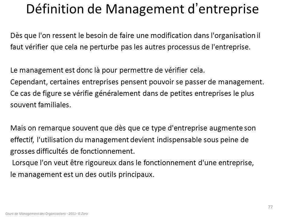 cours de management des entreprises pdf