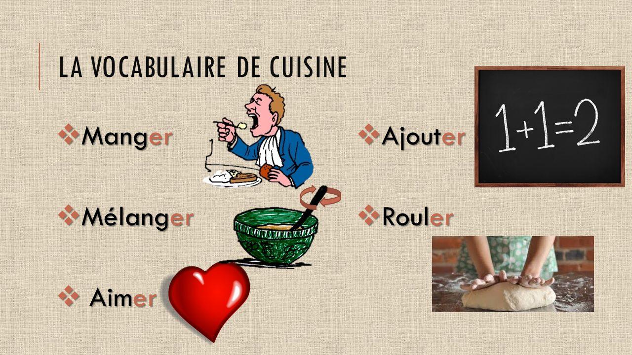 La cuisine fran aise fran ais ppt video online t l charger - Vocabulaire de la cuisine ...