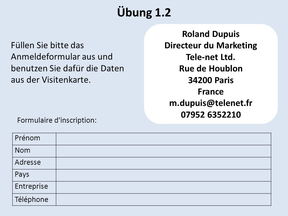 Directeur du Marketing