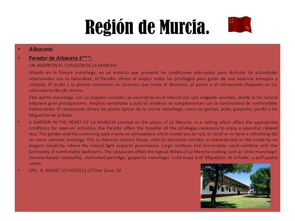Región de Murcia. Albacete. Parador de Albacete 3***.