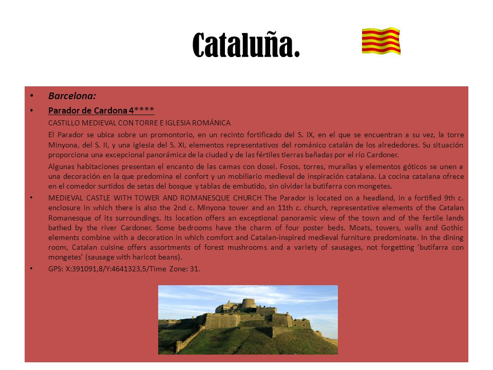 Cataluña. Barcelona: Parador de Cardona 4****