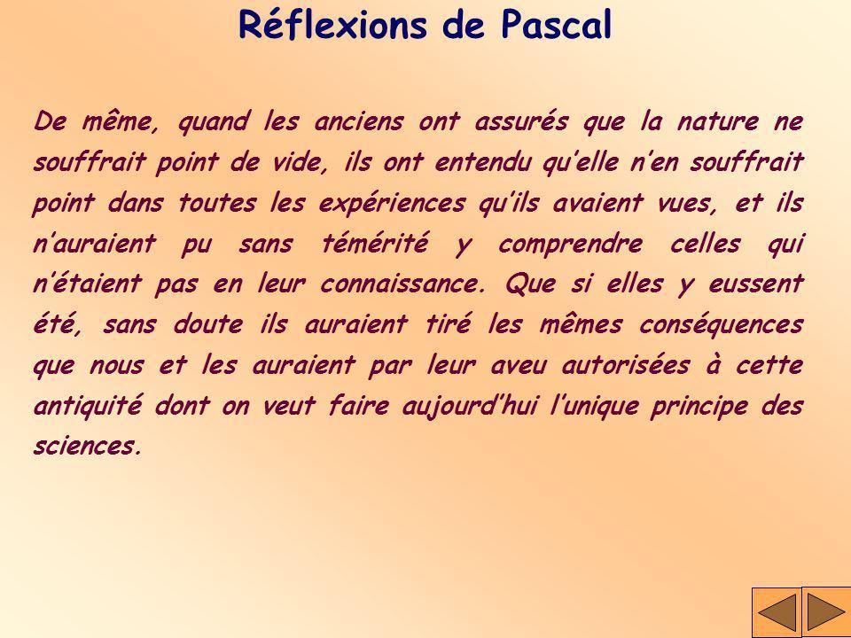 Réflexions de Pascal
