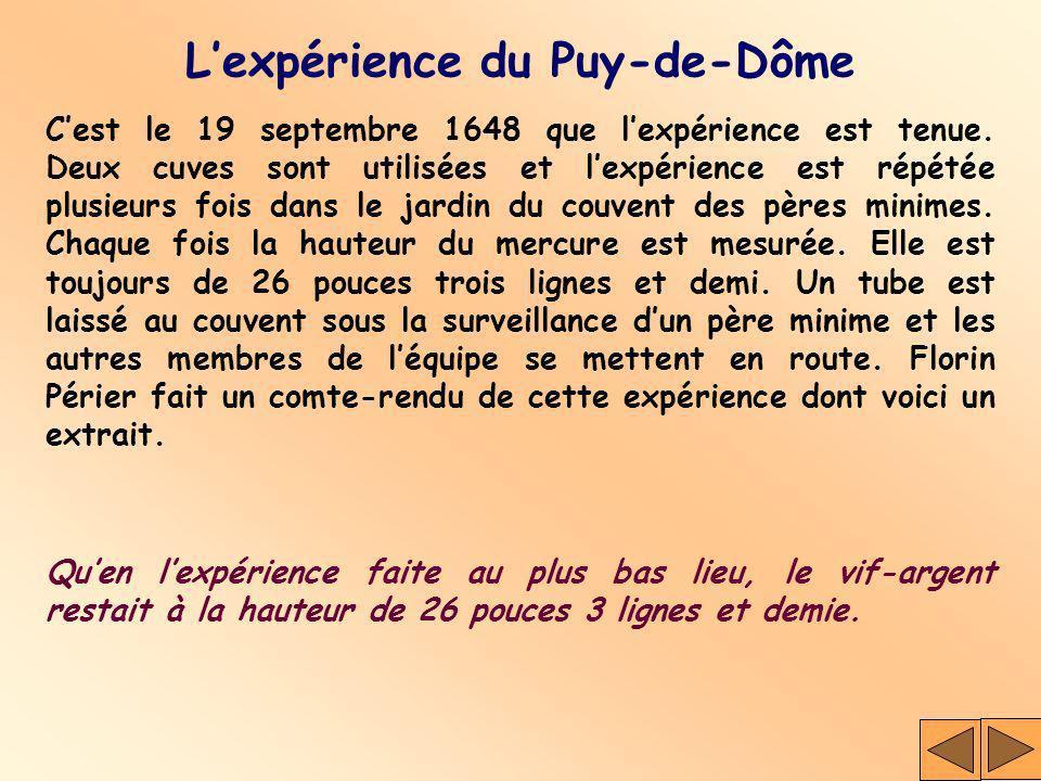 L'expérience du Puy-de-Dôme