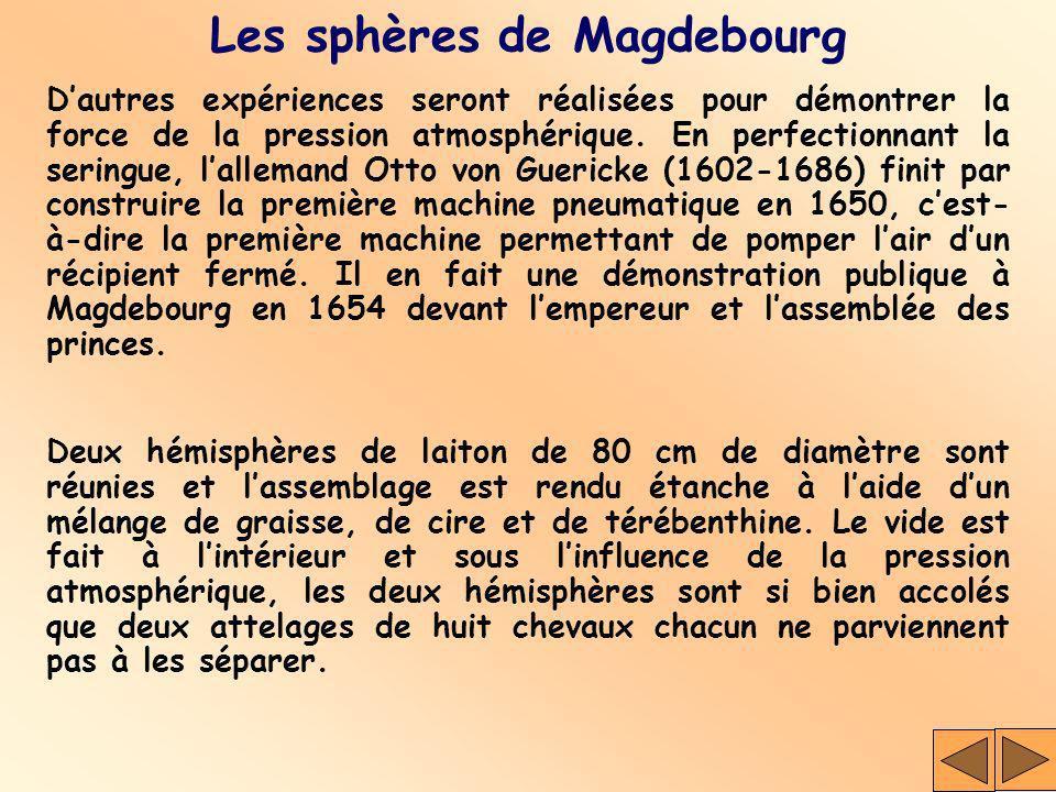 Les sphères de Magdebourg