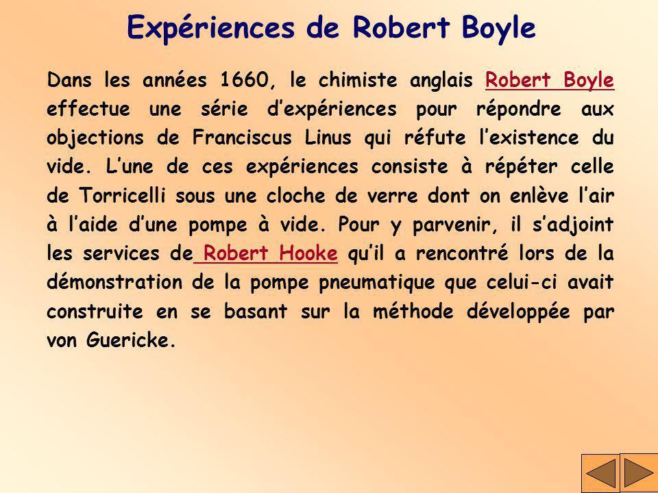 Expériences de Robert Boyle