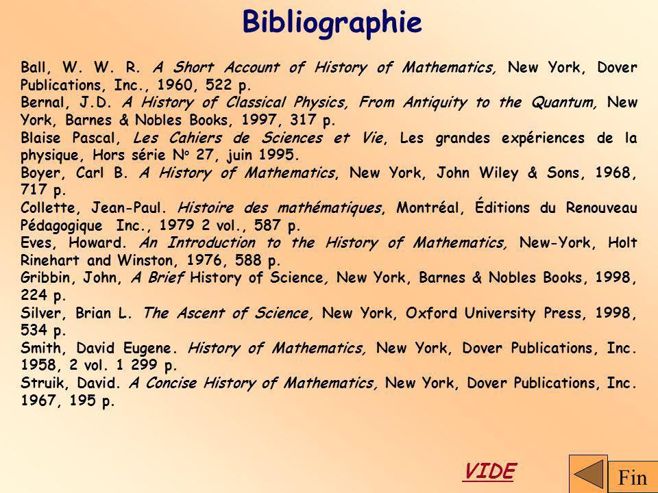 Bibliographie Fin VIDE