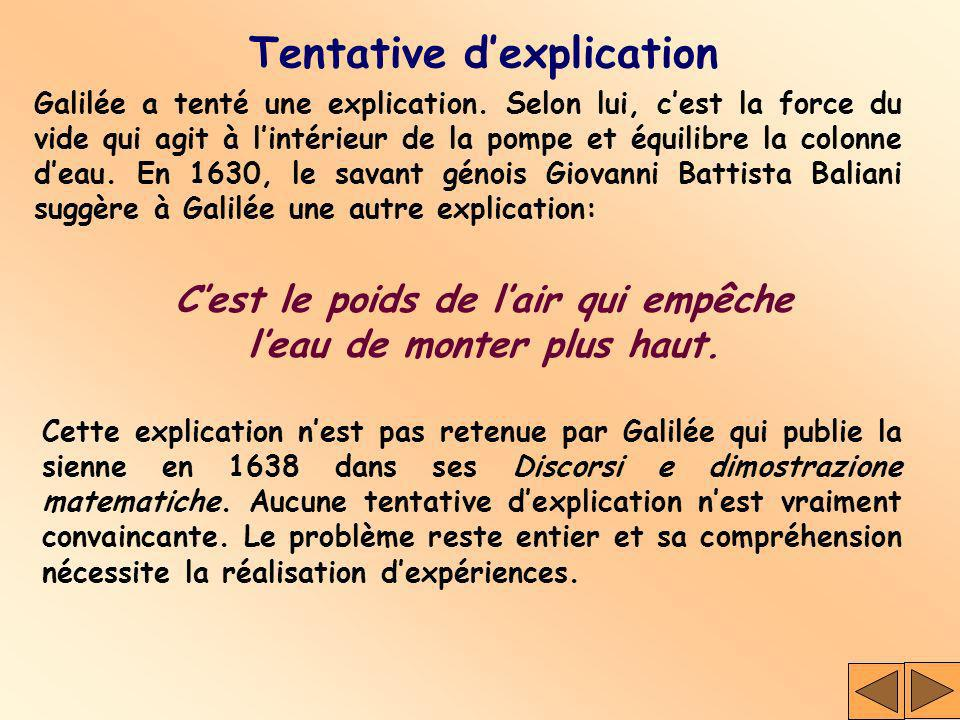 Tentative d'explication