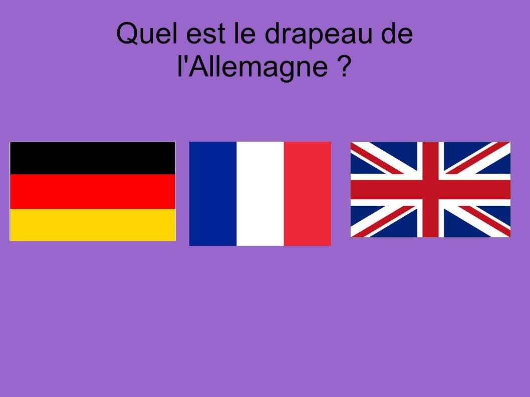 Quel est le drapeau de l Allemagne