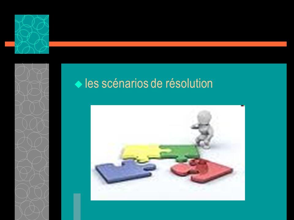 les scénarios de résolution
