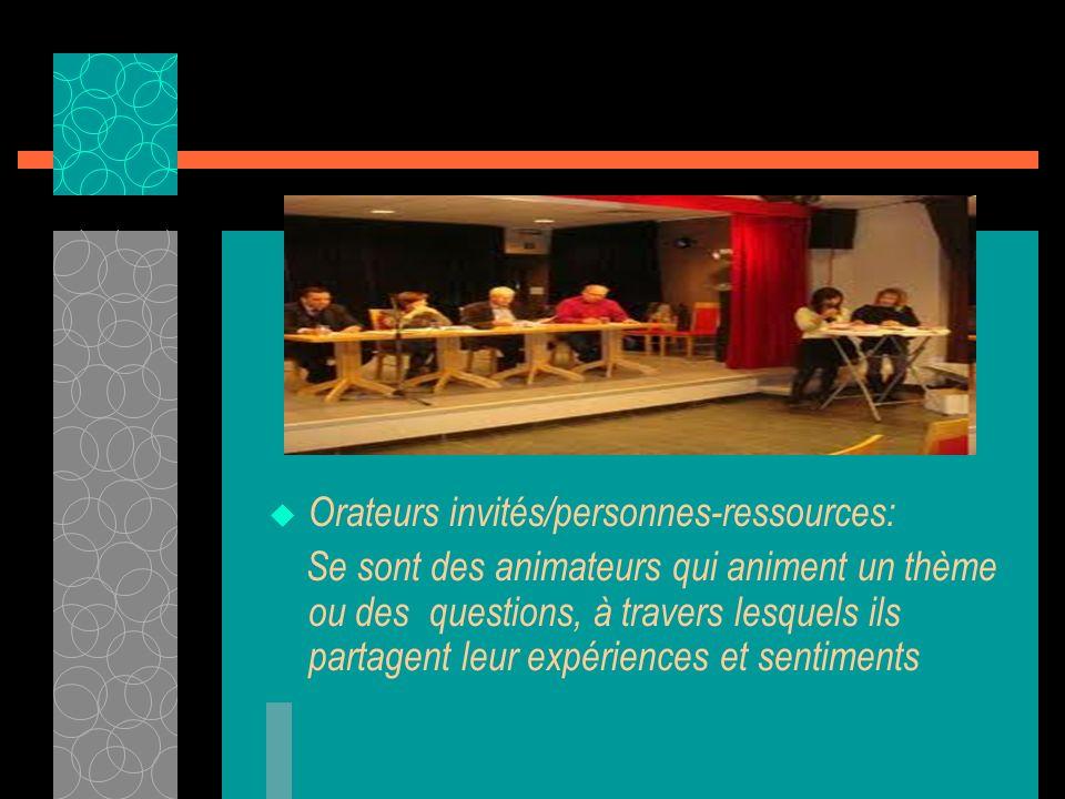 Orateurs invités/personnes-ressources:
