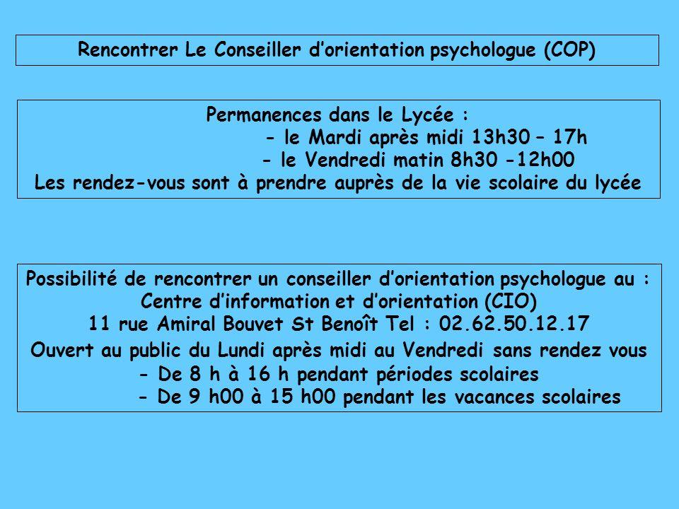 Rencontrer Le Conseiller d'orientation psychologue (COP)