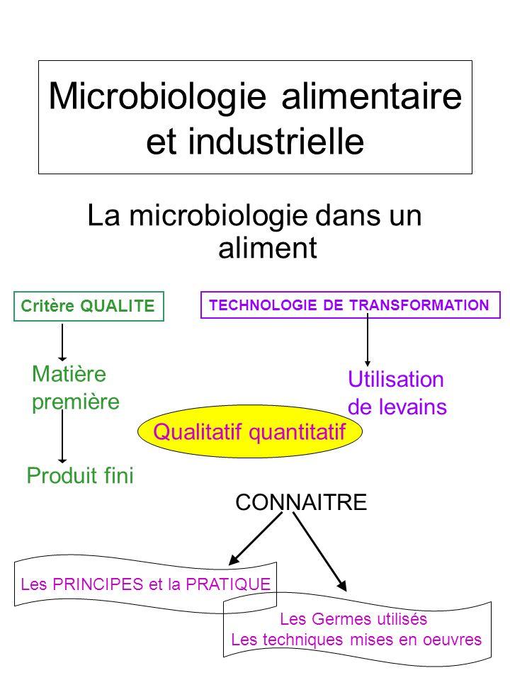 Microbiologie alimentaire et industrielle