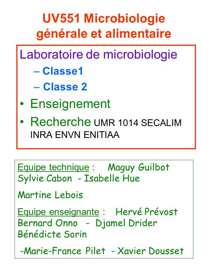 UV551 Microbiologie générale et alimentaire