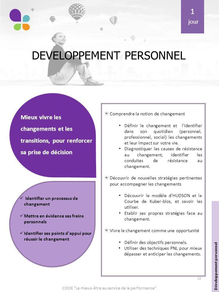 Coo le mieux tre au service de la performance ppt - Academie du developpement personnel ...