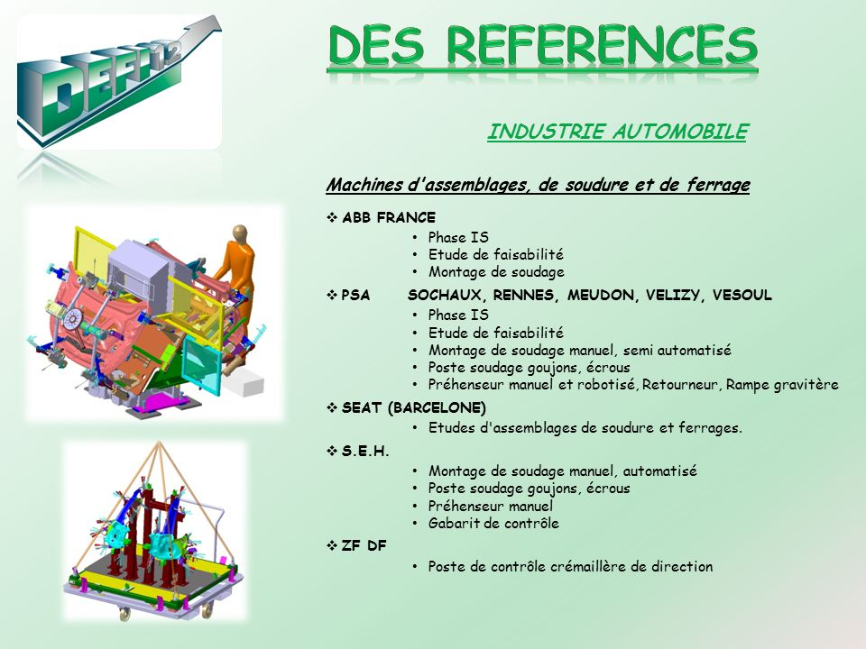 DES REFERENCES INDUSTRIE AUTOMOBILE