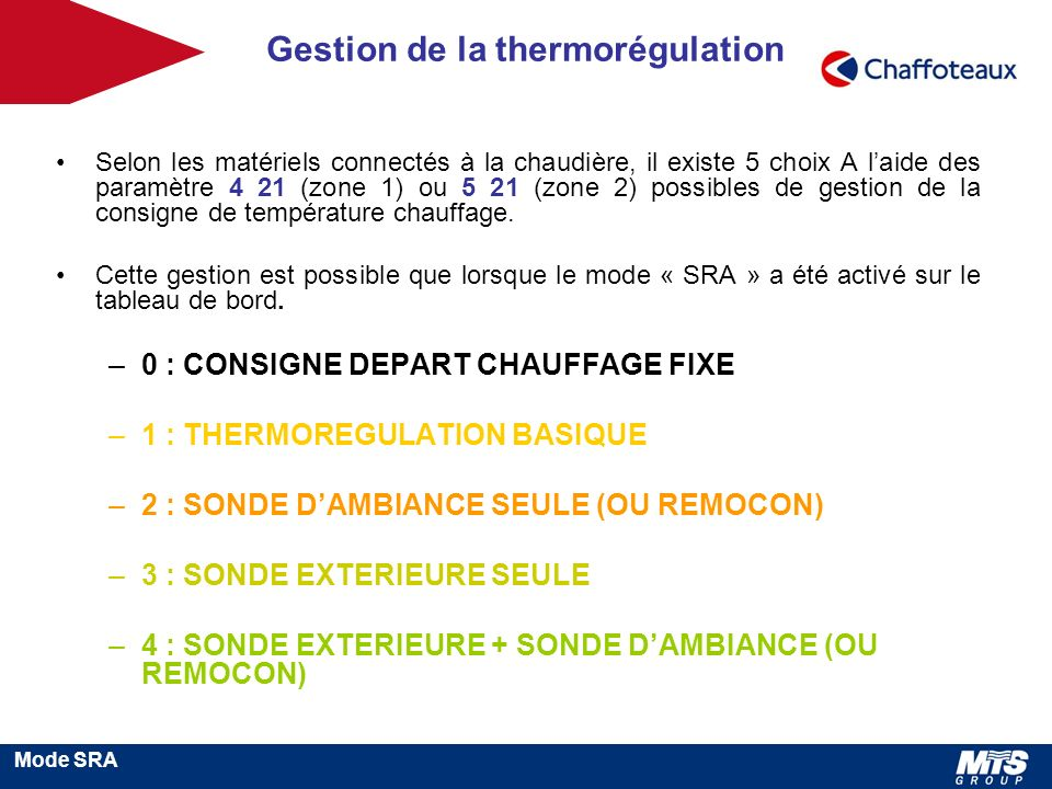 Gestion de la thermorégulation