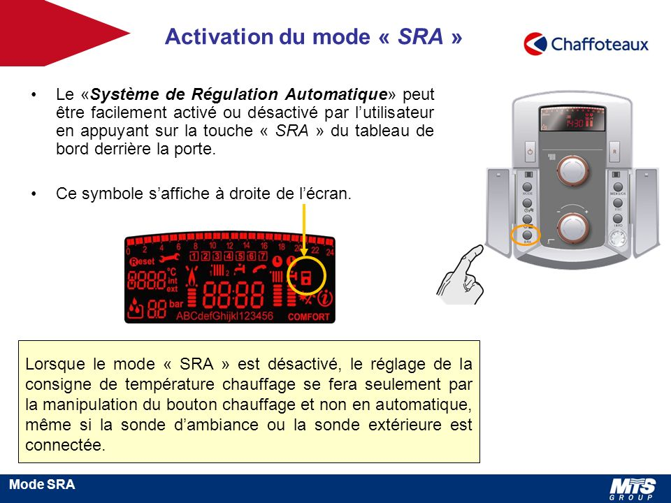 Activation du mode « SRA »